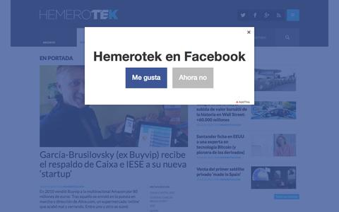 Screenshot of Home Page hemerotek.com - Hemerotek - El diario de la tecnoeconomía - captured July 21, 2015