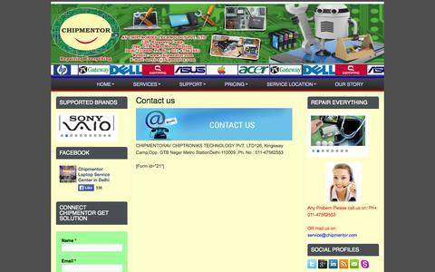 Screenshot of Contact Page chipmentor.com - Contact CHIPMENTOR | Chipmentor - captured Oct. 2, 2014