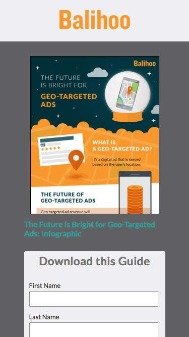 The Future is Bright for Geo-Targeted Ads: Infographic