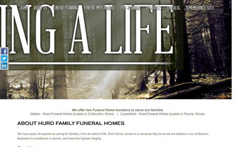 Screenshot of About Page hurdfamilyfunerals.com - About Weber - Hurd Funeral Home, Providing Funeral & Cremation Serv... - captured May 24, 2017