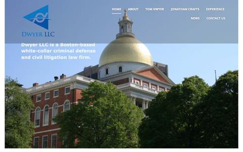 Screenshot of Home Page dwyer-llc.com - Dwyer LLC | A Boston-based white-collar criminal defense and civil litigation law firm. - captured June 17, 2015