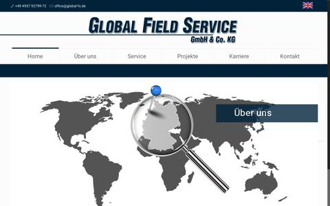 Screenshot of Home Page global-field-service.net - Global Field Service GmbH & Co. KG - captured Nov. 8, 2016