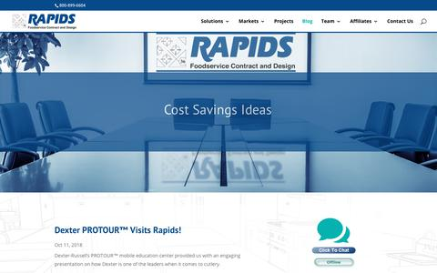 Screenshot of Blog rapidscontract.com - Foodservice Design News From Our Desk | Rapids Foodservice Contract and Design - captured Oct. 18, 2018