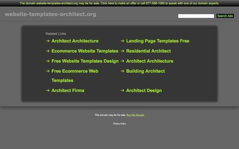 Screenshot of Home Page website-templates-architect.org - Website-Templates-Architect.org - captured April 8, 2017