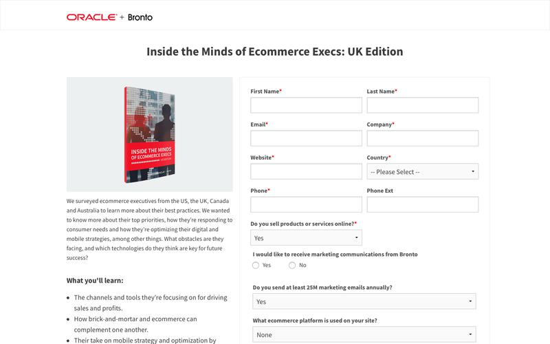 White Paper: Inside the Minds of Ecommerce Execs: UK Edition | Bronto Software