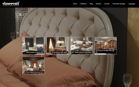 Screenshot of Press Page vimercatimeda.it - News Mobili Classici di Lusso | Vimercati Meda - captured Nov. 5, 2014