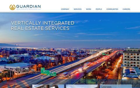 Screenshot of Home Page gres.com - Home | Guardian Real Estate Services - captured Sept. 30, 2018