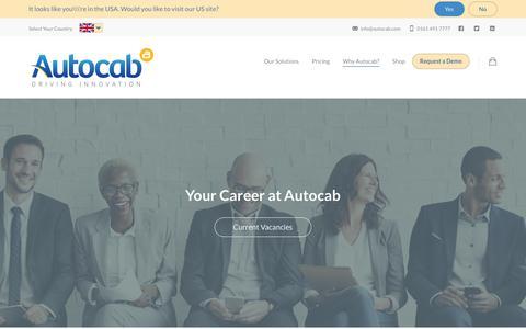 Screenshot of Jobs Page autocab.com - Careers - Autocab - captured Feb. 21, 2018