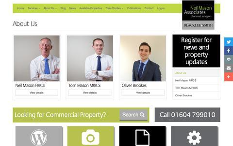 Screenshot of About Page neilmasonassociates.co.uk - Commercial Chartered Surveyors, Northampton - captured Dec. 6, 2016