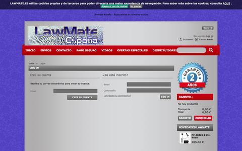 Screenshot of Login Page lawmate.es - Autenticación - LawMate España - captured Nov. 1, 2014