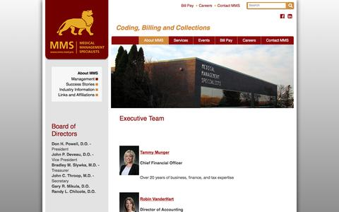 Screenshot of Team Page mms.med.pro - Management - Medical Management Specialists - captured Oct. 18, 2017