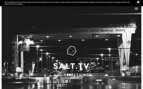 Screenshot of Home Page salt.tv - Soho, London Film Production & Post-Production Company | SALT.TV - captured Nov. 3, 2016