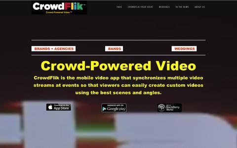 Screenshot of Home Page crowdflik.com - CrowdFlik, Inc. - captured Oct. 3, 2014