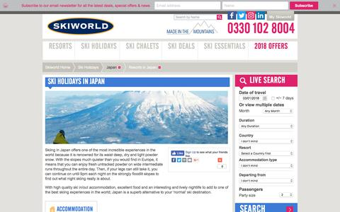 Japan Ski Holidays | Skiing In Japan | Skiworld