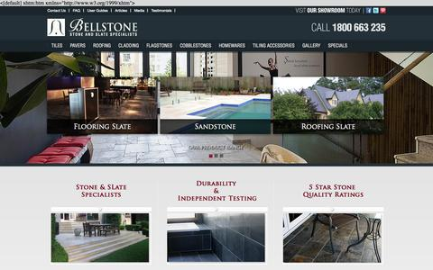 Screenshot of Home Page bellstone.com.au - Outdoor Pavers, Outdoor Tiles, Natural Stone Tiles, Floor Tiles - captured Oct. 5, 2014