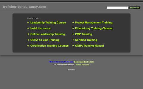 Screenshot of Home Page training-consultancy.com - Training-Consultancy.com - captured Feb. 17, 2016