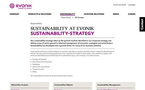 CR-Strategy - Evonik Industries AG