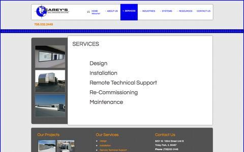 Screenshot of Services Page careyscentral.com - Services - captured Nov. 1, 2014
