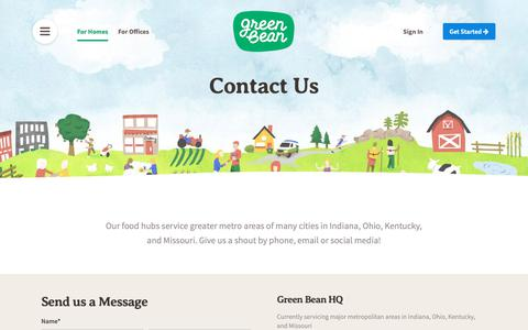 Screenshot of Contact Page greenbeandelivery.com - Green Bean Delivery - Organic + Natural Groceries Delivered - captured March 30, 2019