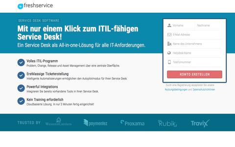 Screenshot of Landing Page freshservice.com - ITIL Service Desk software | Freshservice - captured Sept. 16, 2017
