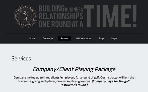 Screenshot of Services Page executivelinksllc.com - Serivces | Executive Links, LLC | - captured Sept. 30, 2014