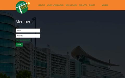 Screenshot of Login Page tennisthreesixty.com - Your Tennis 360 Academy in the UAE » Login   Users - captured Oct. 7, 2014