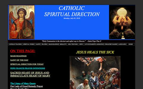 Screenshot of Home Page jesus-passion.com - CATHOLIC SPIRITUAL DIRECTION - captured July 3, 2018