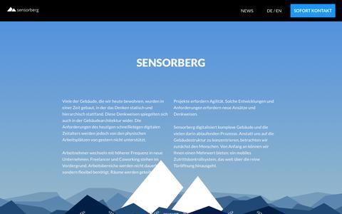 Screenshot of About Page sensorberg.com - Sensorberg - captured Nov. 10, 2018