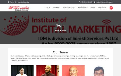 Screenshot of Team Page digitalmarketing.ac.in - Team   Institute Of Digital Marketing - captured Nov. 28, 2019