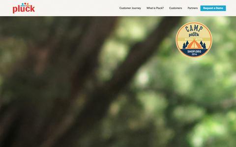 Screenshot of Team Page pluck.com - Pluck - captured Sept. 19, 2014
