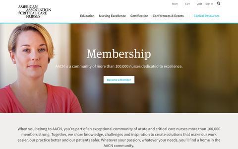 Screenshot of Signup Page aacn.org - Membership - AACN - captured May 28, 2017