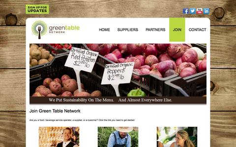 Screenshot of Signup Page greentable.net - Join  |  Green Table Network - captured Oct. 3, 2014