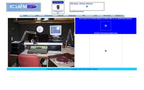 Screenshot of Home Page kclafm.com - KCLAFM 99.3 - captured Oct. 5, 2014