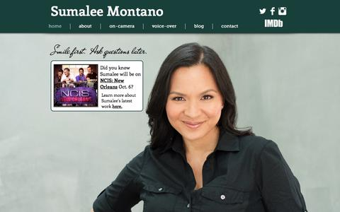 Screenshot of Home Page sumalee.com - Sumalee Montano - captured Oct. 8, 2015