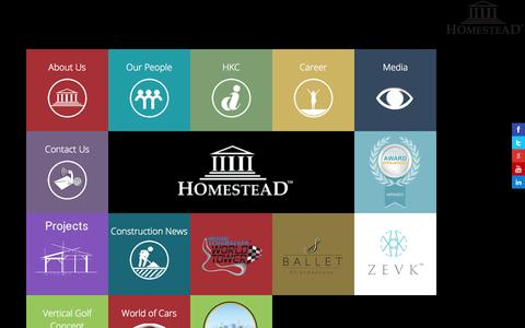 Screenshot of Home Page homesteadinfra.com - Homestead Infrastructure Development | Boutique Branded Residencies | Luxury | Premium | Exclusive Housing, Flats & Apartments in Gurgaon/Delhi NCR | India - captured Oct. 3, 2014
