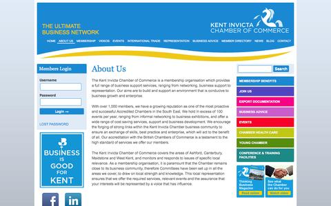 Screenshot of About Page kentinvictachamber.co.uk - About Us | Kent Invicta Chamber of Commerce - captured Oct. 3, 2014