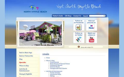 Screenshot of Site Map Page northmyrtlebeachchamber.com - Visit North Myrtle Beach, South Carolina - Visit North Myrtle Beach, South Carolina - captured Oct. 26, 2014