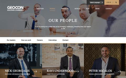 Screenshot of Team Page geocon.com.au - People - GEOCON - captured Oct. 8, 2016