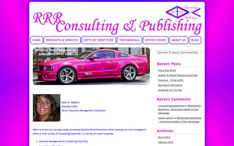 Screenshot of About Page rrrconsulting-publishing.com - About Us | Robin R. Robbins Consulting & Publishing - captured Sept. 30, 2014