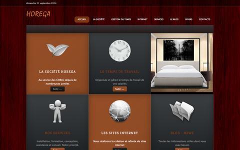 Screenshot of Home Page horega.fr - Horega - Gestion du temps en CHR(s) - captured Sept. 23, 2014