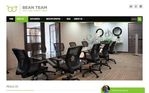 Screenshot of About Page beanteam.com - Your Tallahassee Accounting experts offering affordable solutions | Bean Team - captured Aug. 1, 2018