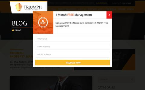 Screenshot of Blog triumphpropertymanagement.com - Blog - Triumph Property Management - Las Vegas - captured Nov. 18, 2018