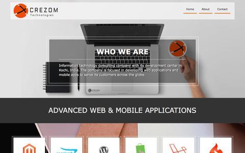 Screenshot of Home Page crezom.com - About Us - Crezom Crezom - captured Aug. 30, 2017