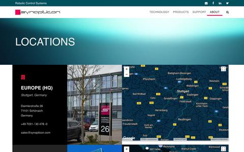 Screenshot of Locations Page synapticon.com - Locations – Synapticon - captured Oct. 24, 2017