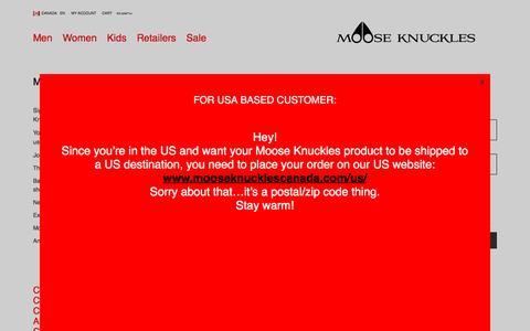 Screenshot of Signup Page mooseknucklescanada.com - Signup | Moose Knuckles - captured Dec. 13, 2016