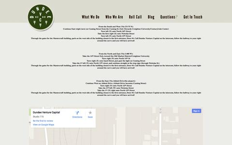 Screenshot of Maps & Directions Page dundeeventurecapital.com - Directions | Dundee Venture Capital - captured Sept. 30, 2014
