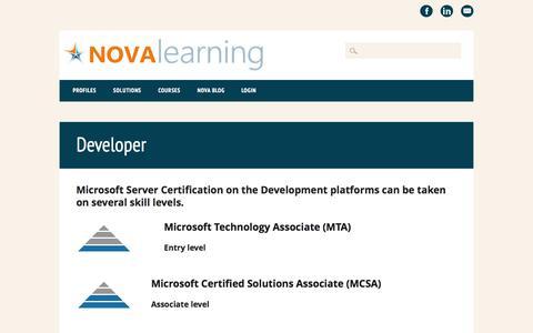 Screenshot of Developers Page nova-learning.com - Developer | NOVA Learning - captured Oct. 26, 2014
