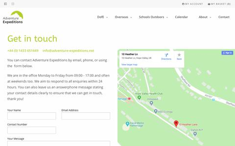 Screenshot of Contact Page adventure-expeditions.net - Contact - Adventure Expeditions - captured Dec. 9, 2018