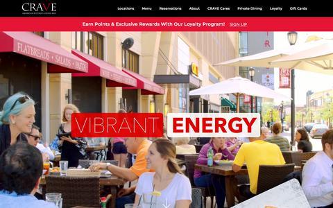 Screenshot of Home Page craveamerica.com - CRAVE American Kitchen & Sushi Bar - captured July 3, 2018