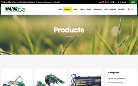 Screenshot of Products Page major-equipment.com - Products – Major Equipment - captured Oct. 5, 2017